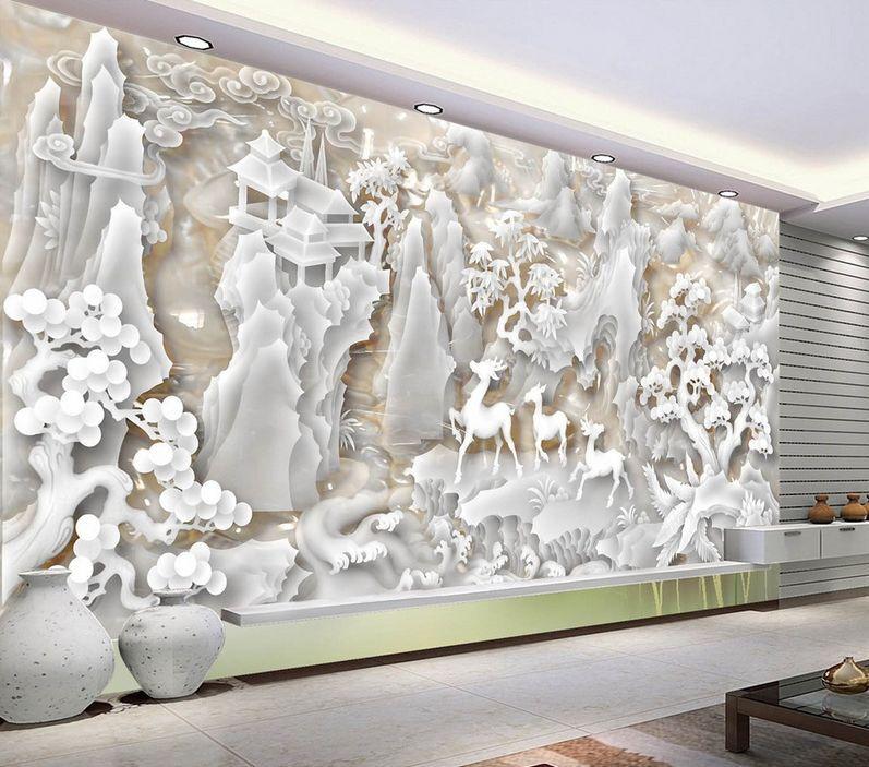 3D Exquis Paysage 7 Photo Papier Peint en Autocollant Murale Plafond Chambre Art