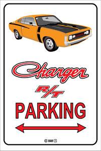 Parking-Sign-Metal-RT-CHARGER-Orange