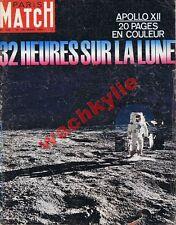 Paris Match n°1076 du 20/12/1969 Apollo XII Lune Espace Hepburn Chanel Manson