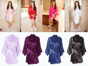 Charming-Women-039-s-Vintage-Kimono-Robe-Silk-Satin-Geisha-Dress-Sleepwear
