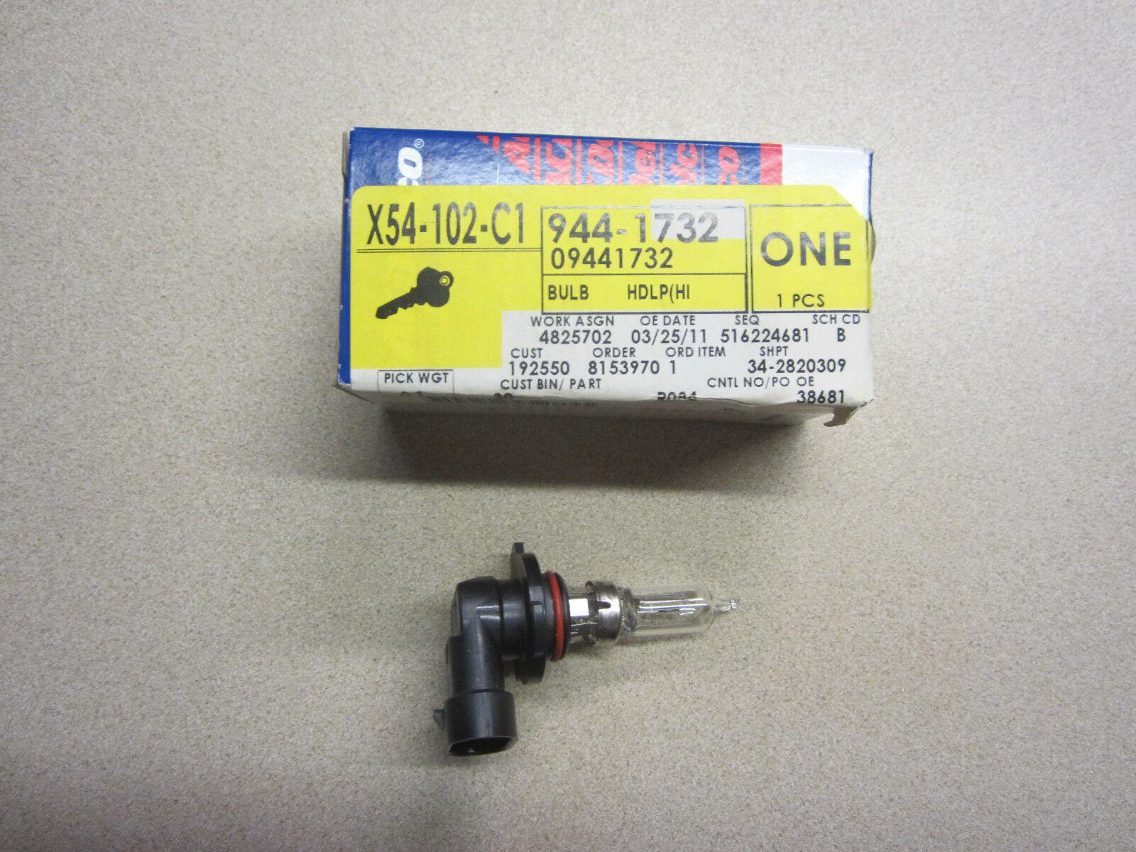 gm  head light bulb 9441732 9005 hb3 high beam  oem