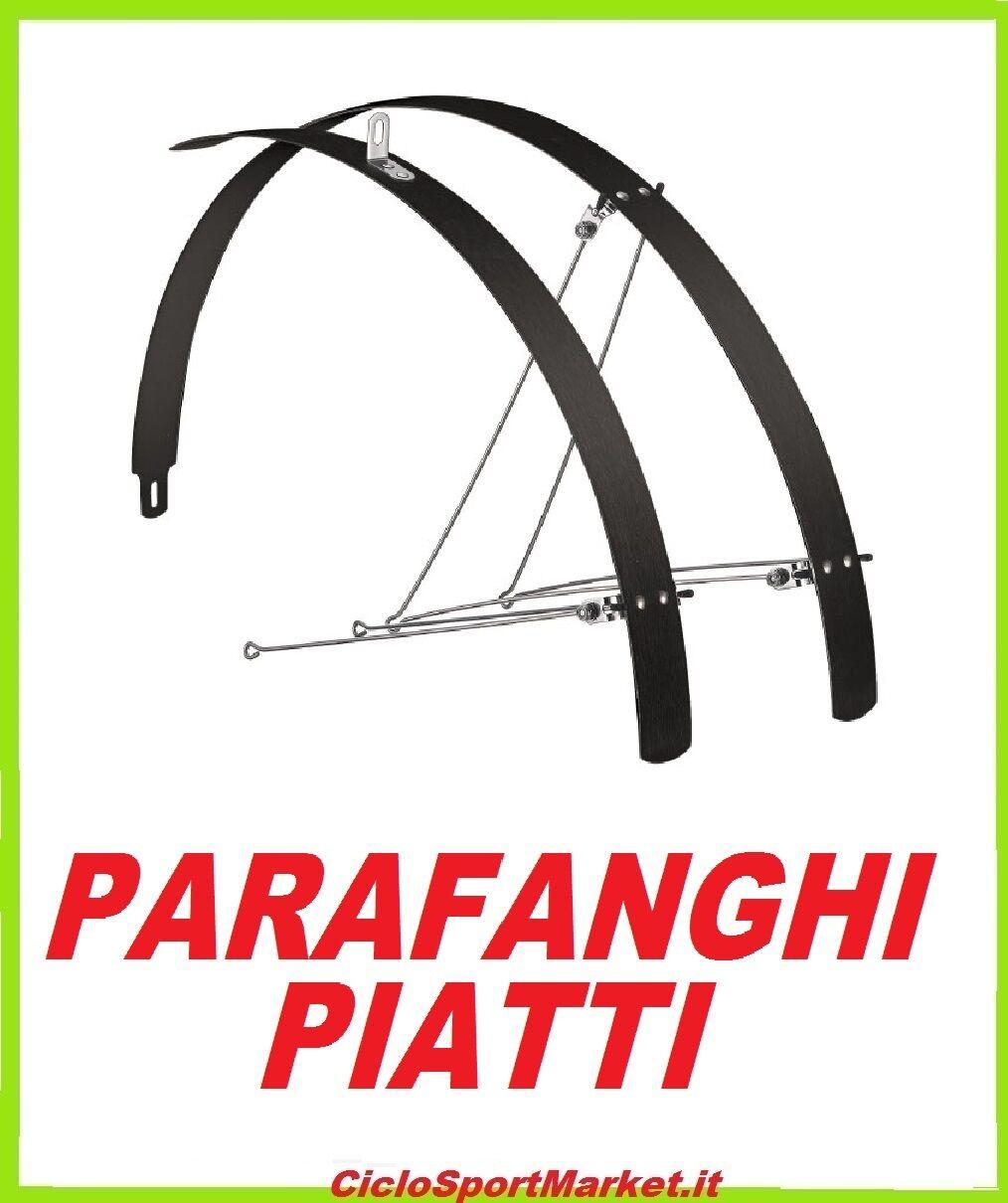COPPIA PARAFANGHI piatti in ALLUMINIO - per bicicletta City Bike - ALLUMINIO Ibrida 26