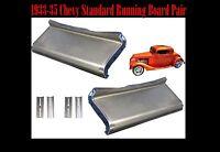 1933 1934 1935 Chevrolet Chevy Standard Steel Running Board Set 33,34,35