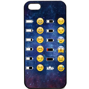 iphone 5 5s phone case emoji face battery funny space. Black Bedroom Furniture Sets. Home Design Ideas