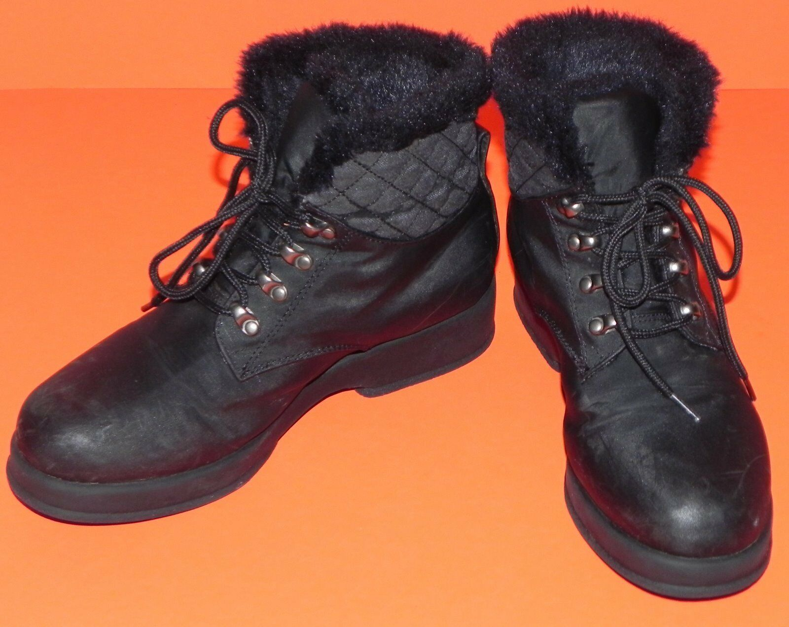 London Fog Snow Rain Winter Boots Black Faux Abby Fur Lined Womens 7M Abby Faux abf6b4