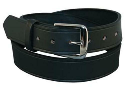 """Boston Leather 6582-1-44 Black Plain 1-1//2/"""" Off Duty Belt Nickel 44/"""""""