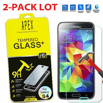2X Premium Real Tempered Glass Screen Protector for SAMSUNG Galaxy S4 i9500