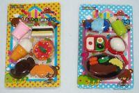 12 Pcs Collector Eraser Food Lunch Snack & Steak Dinner Child's Gift Bag Filler