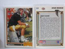 Brett Favre - 1991 Upper Deck #13 ROOKIE CARD (RC) - Green Bay Packers