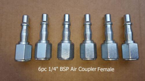6 PC 1//4 BSP Manguera de Línea de Aire Acoplador//Accesorios//conector rápido hembra//