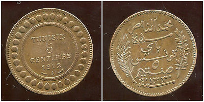 Tunisie 5 Centimes 1912 ( Ttb + )