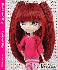 "【HT-02C】Pullip Taeyang DAL 8.0~9.5"" HP Wig with Hair Pin # Deep Red"