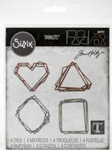 Sizzix Thinlits Dies By Tim Holtz Geo Frames 630454261001