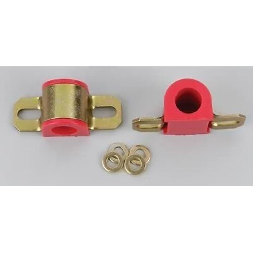 "Energy Suspension 9.5126R Universal 7//8/"" 22mm Sway Bar Bushings w// Bracket Red"