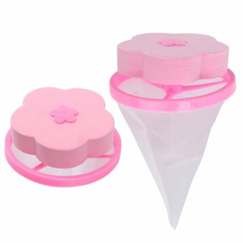 2Pcs Washing Machine Laundry Filter Bag Floating Lint Hair Catcher Mesh Pouch US