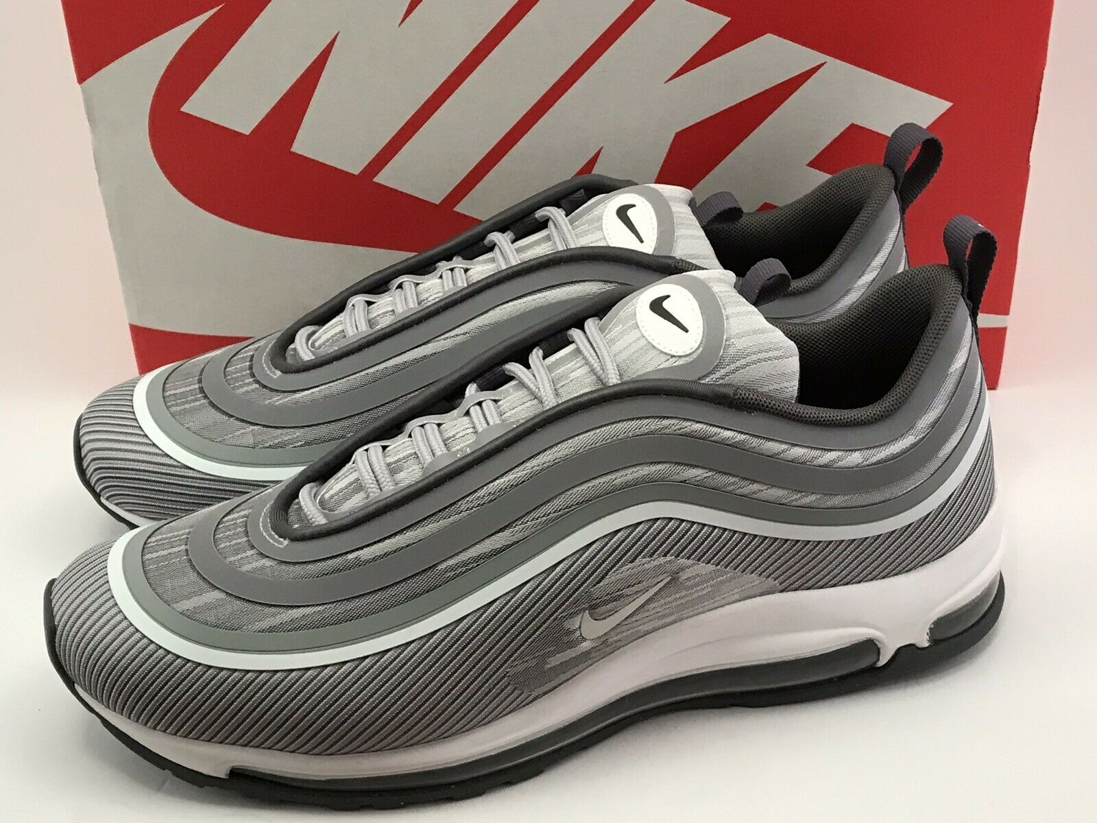 Nike Air Max 97 Ultra '17 Wolf Grey White Silver Bullet 918356 007 Size 10.5