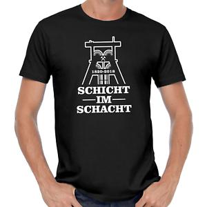 Schicht-im-Schacht-Zeche-Bergbau-Kumpel-Foerderturm-Ruhrgebiet-Bottrop-T-Shirt