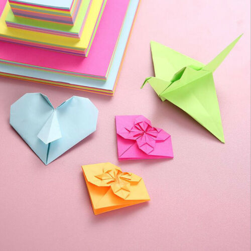 100 X 10 Colors Origami Paper Double Sided Colorful Folding DIY Paper Arts  RAS