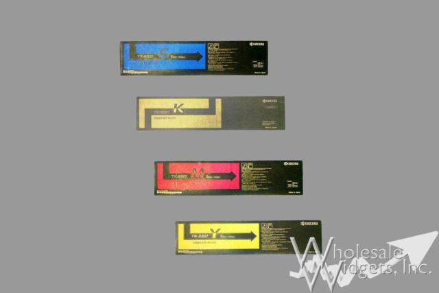 Set of 4 Genuine Kyocera TK-8307C TK-8307K TK-8307M TK-8307Y TK-8307 TK8307