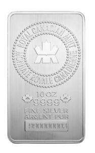 10oz-Royal-Canadian-Mint-999-Pure-Silver-Bullion-Bar