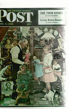 Curiosity Shop Norman Rockwell The Saturday Evening Post  Reprint  Postcard 8174