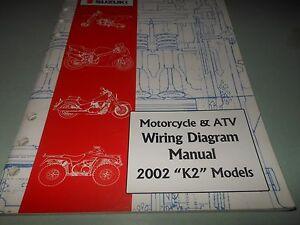 Details about Suzuki OEM 2002 K2 Wiring Diagram Manual Hayabusa RM on