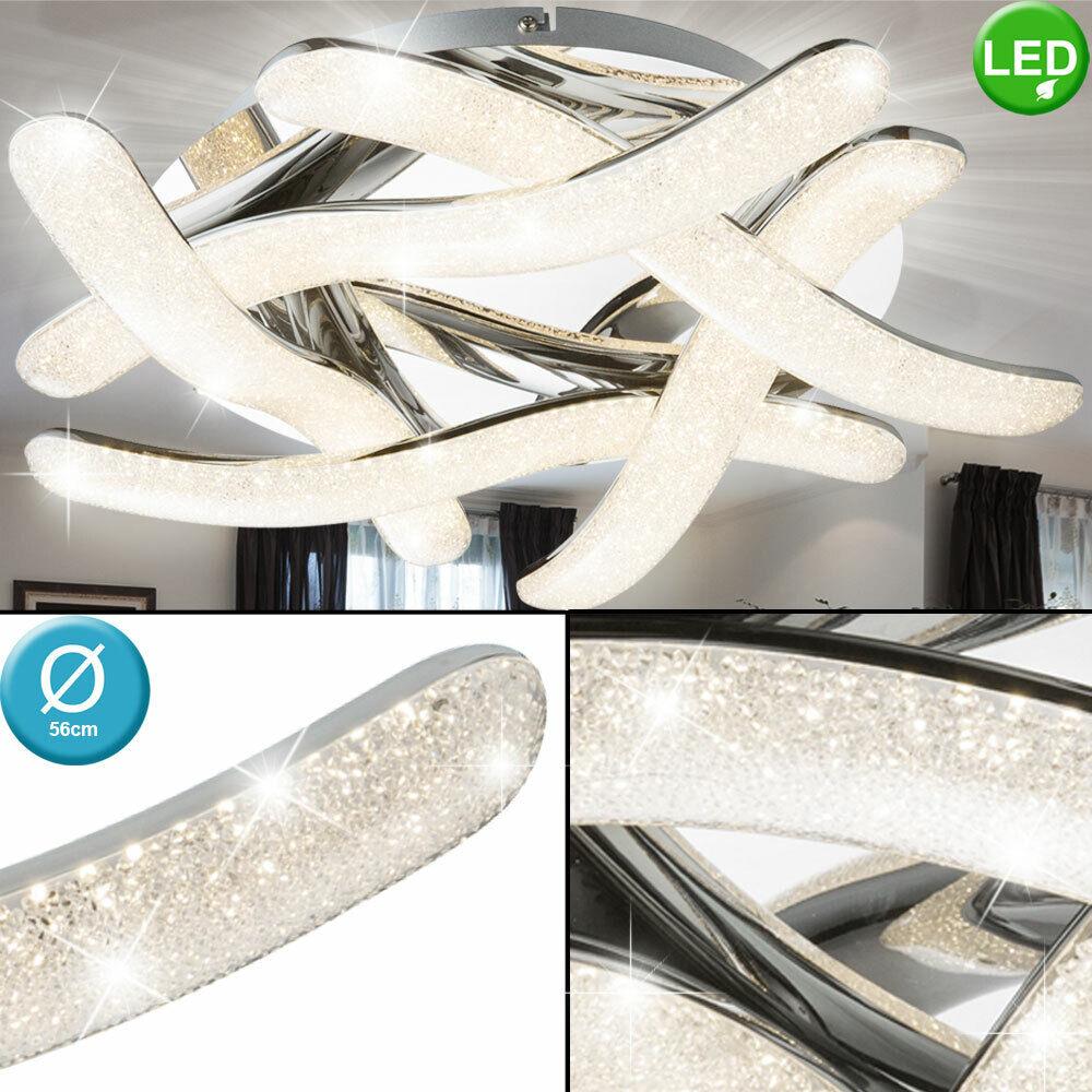 LED ceiling light crystal sleep living room spotlights swinging chrome lamp