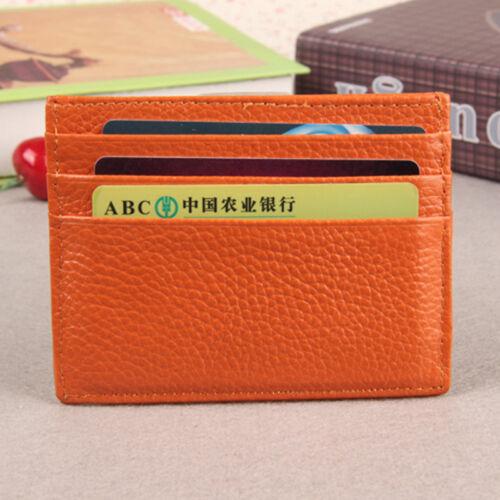 Men Women PU Leather Slim Thin Credit Card Holder Money Cash Mini Wallet ID Case
