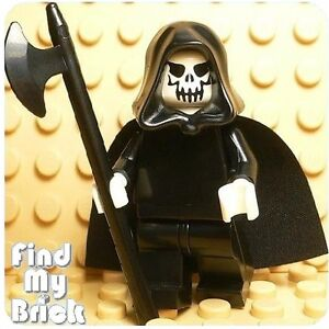 C226-Lego-Death-Minifig-with-Cape-Halberd-Hood-NEW
