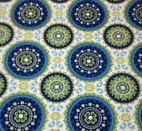 Richloom Bindis Summer Blue Suzani Outdoor Funriture Fabric By The Yard 54w