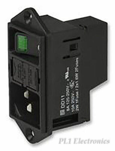 W // Out fusibile CASSETTO 2p Interruttore SCHURTER DD11.0114.1111 Inlet IEC