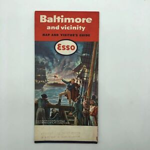 Baltimore-and-Vicinity-Esso-Map-And-Visitor-039-s-Guide-1959