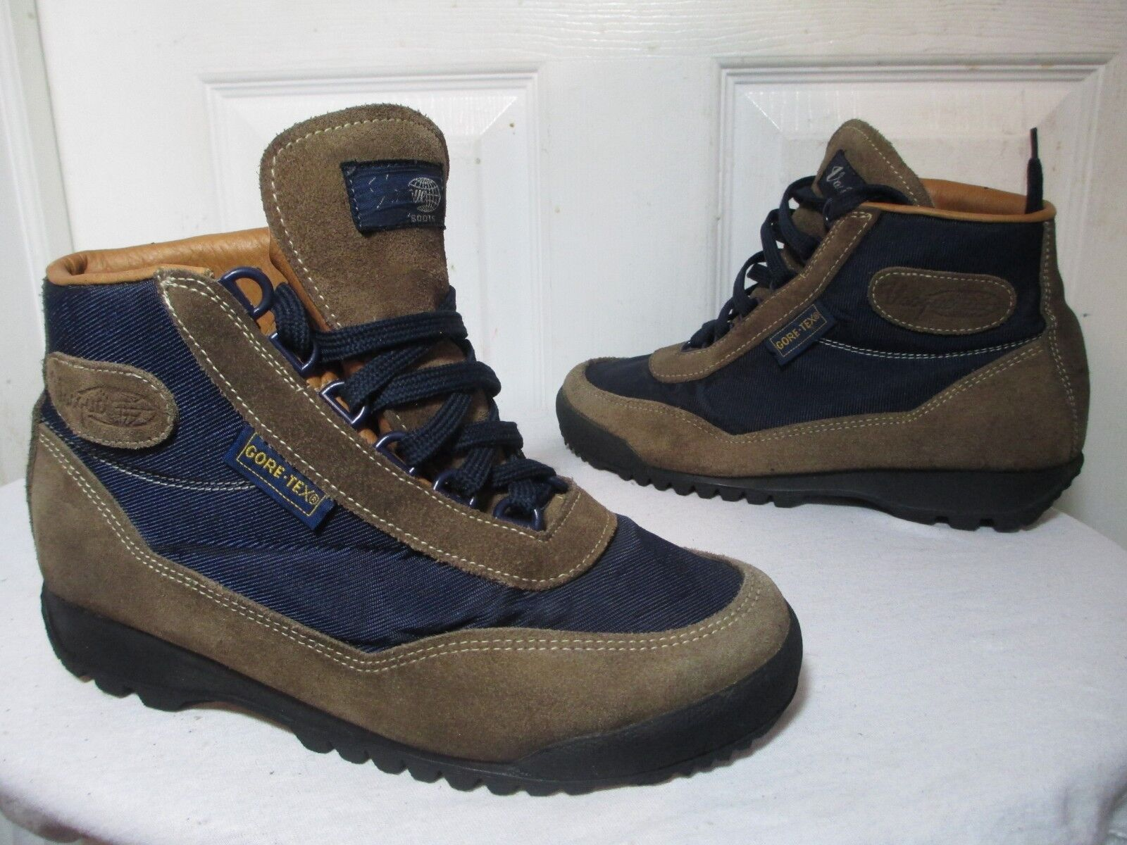 VASQUE SKYWALK GORE-TEX HIKING TRAIL BOOTS OLIVE blueES MEN'S SZ 8 MADE IN ITALY