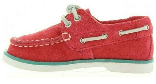 Girls Childrens Kids Infants Babies Timberland Deck Boat shoes Pink Leather