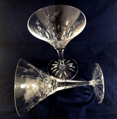 Rogaska Gallia Martini Glass 2pc set in original box MINT Crystal