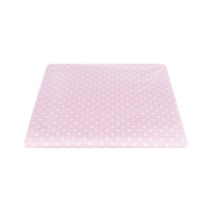 Tessuto Stoffa Cotone Fantasia Pois Bianco Fondo Rosa Taglio 280x280 cm