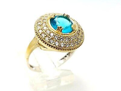 Hurrem Sultan 925 Sterling Silver Aquamarine Turkish Handmade Lady Ring All Size