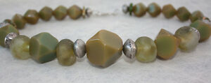 African Tradebeads Kette Bakelit Perlen Vintage Tuareg Silber Necklace 45 Cm Antiquitäten & Kunst