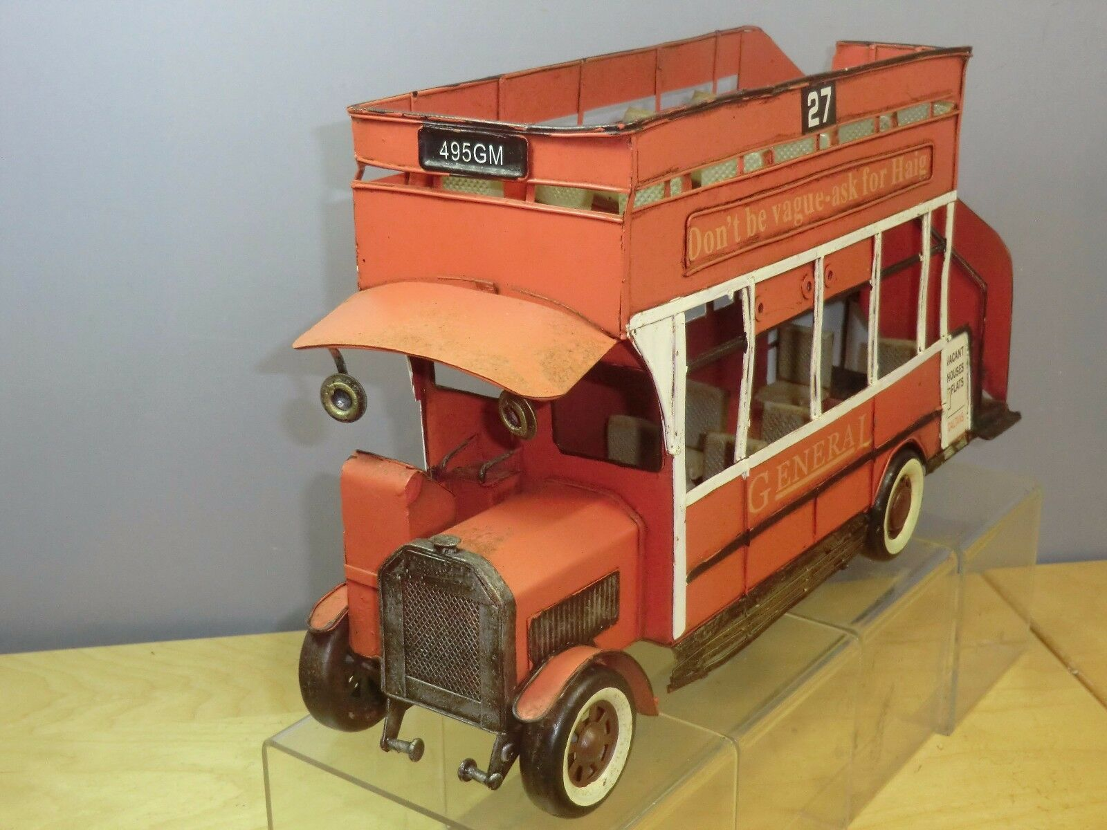 LARGE SCALE SCALE  TINPLATE  RETRO  MODEL OF A      LONDON   GENERAL  OMNIBUS
