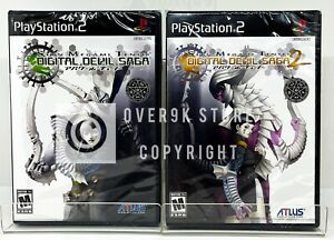 Shin Megami Tensei Digital Devil Saga Bundle 1 + 2 - PS2 - New   Factory Sealed