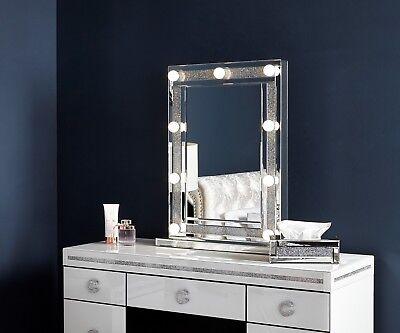 Diamond Glitz Hollywood 9 Dimmable Led, Vanity Bulb Mirror