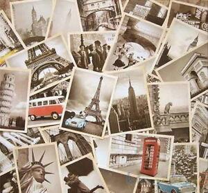 32pcs travel postcard vintage landscape building photo picture poster post ca~9K