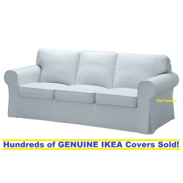 Ikea Rp Three 3 Seat Sofa Slipcover Cover Nordvalla Light Blue New Sealed