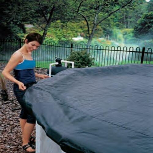 Leafstop Pool Cover 18 x 9ft (5.5 x 2.75m) RECTANGULAR, INTEX BESTWAY POOLS
