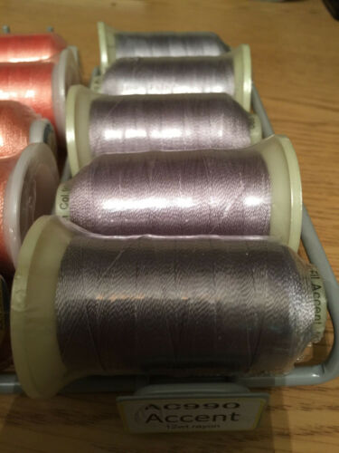 WonderFil Accent Solid Thread on 12wt 400M Spools Many Colors Must buy min 2 !!