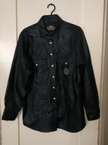 Harley Davidson Classic Leather Motorcycle Shirt
