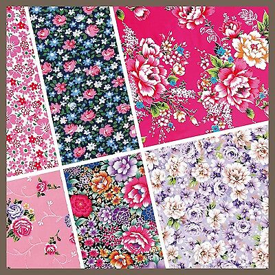 exclusive 48/ 24pc classic floral fabric pattern scrapbook paper 6 design
