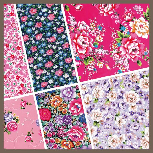exclusive 48/ 24pc classic floral fabric pattern scrapbook paper 6 design