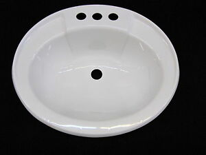 Bathroom Sinks For Mobile Homes mobile home rv marine parts bathroom lav sink white hardware/drain