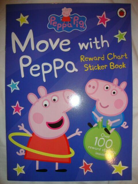 Peppa Pig Sticker Book - Move With Peppa Reward Chart Book - Brand New RRP £3.99